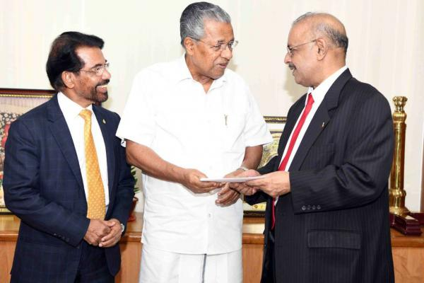 Dr. Muhammed Majeed, Chairman and Managing Director of Sami-Sabinsa Group Donated Rs. 3 Crores to Kerala Chief Minister's Distress Relief Fund