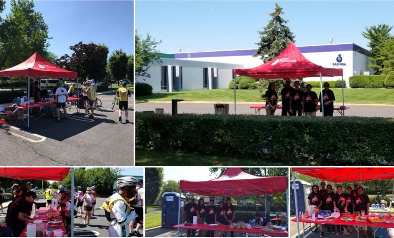 Sabinsa employees volunteered for American Diabetes Association's annual Tour de Cure